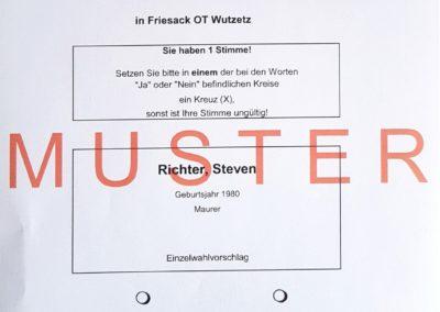 Ortsvorsteher Wutzetz