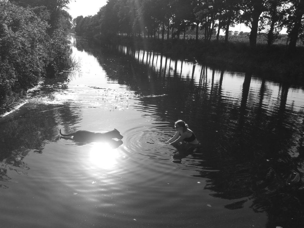 Abkühlung im Kanal von Katrin Gerhardi, Foto aus Friesack