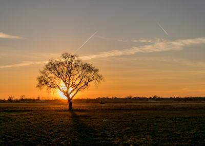 Sonnenuntergang im Havelland von Daniel Herforth, Foto aus Friesack