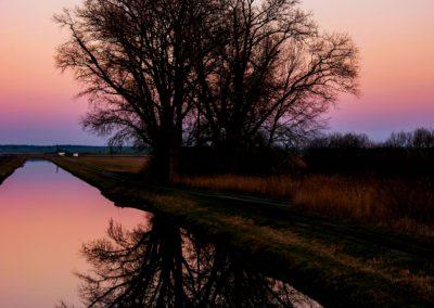 Spiegelung am Havelländischen-Hauptkanal von Daniel Herforth, Foto aus Friesack