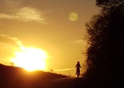 Fliederfest Radeln in der Abendsonne von Ulrike Kern, Foto aus Friesack