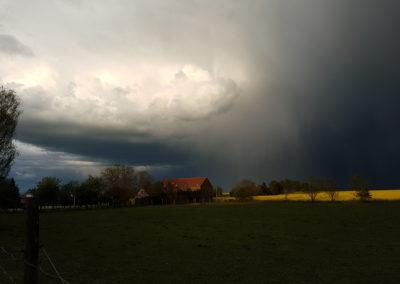 Fliederfest Gewitter im Frühling von Ulrike Kern, Foto aus Friesack
